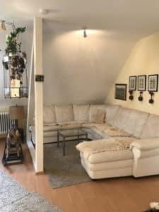 Couchbereich Ziegenzimmer