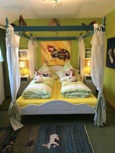 Betten Hühnerzimmer